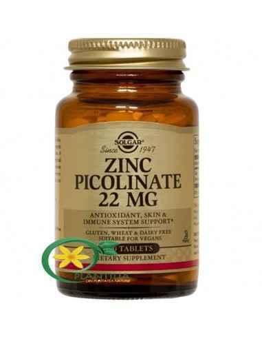 Zinc Picolinate 22mg 100tb Solgar, Zinc Picolinate 22mg 100tb Solgar Zincul este un oligoelement esențial, important pentru sist