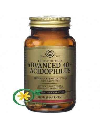 Probiotice 40+ 60 cps Solgar, Advanced 40+ Acidophilus(Probiotice) 60cps Solgar O formulă probiotică avansată, special creată pe