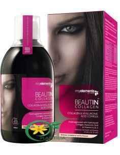 Beautin Colagen Lichid + Mg 500ml MyElements, Beautin Colagen Lichid CuCapsuni si Vanilie + Magneziu 500ml MyElementsBeautin