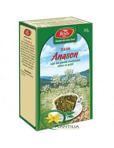 Ceai Anason 50g Fares, Ceai Anason Fructe 50 g Fares Susţine secreţia sucurilor digestive şi reducerea spasmelor intestinale.