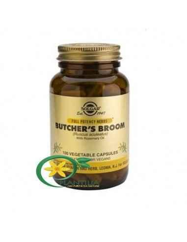 Butcher's Broom 100cps (Ghimpe paduret) Solgar  Ghimpele pădureț conține ruscogenine și flavonoide benefice, două substanțe fit