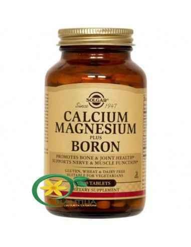 Calciu Magneziu si Bor 100 tb Solgar, Calcium Magnesium Plus Boron 100tb (Calciu Magneziu si Bor) Solgar  Formulă pe bază de cal