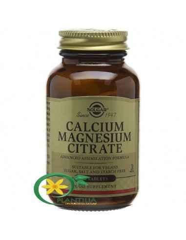 Calcium Magnesium Citrate 50tb Solgar,  Calcium Magnesium Citrate 50tb Solgar Magneziul reprezintă un co-factor în peste 300 de