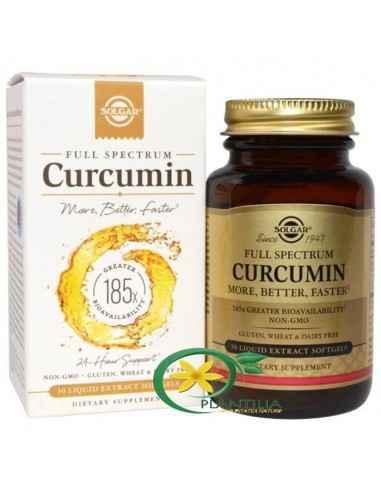 Curcumin Full Spectrum 30 cps Solgar  Produsul are o biodisponibilitate de 185x mai mare, insemnand ca Solgar a tranformat curcu