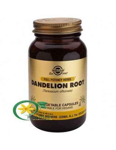 Dandelion (Papadie) 100cps Solgar  Cercetările indică faptul că extractul de păpădie poate fi benefic ca tonic al ficatului și