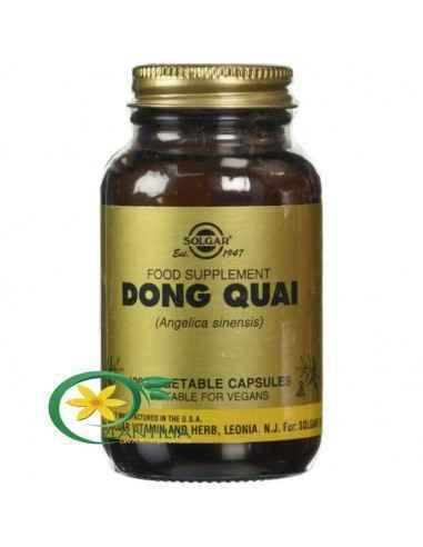 Dong Quai (Angelica sinenis) 100cps Solgar  Utilizată în principal ca tonic pentru sistemul reproducător femeiesc, Angelica are