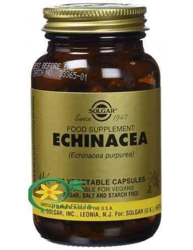Echinacea 100 cps Solgar  Echinacea este o plantă originară în America de Sud, fiind considerată una dintre cele mai importante
