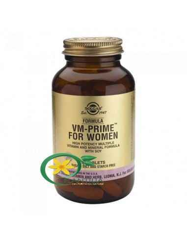 Formula VM Prime for Women 90 tb Solgar Formulă cu putere ridicată pe bază de multivitamine și minerale, cu soia.