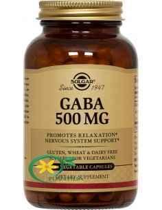 Gaba 50 cps Solgar, Gaba 500mg 50 cps Solgar Gaba este un aminoacid ce sustine buna functionare a sistemului nervos.