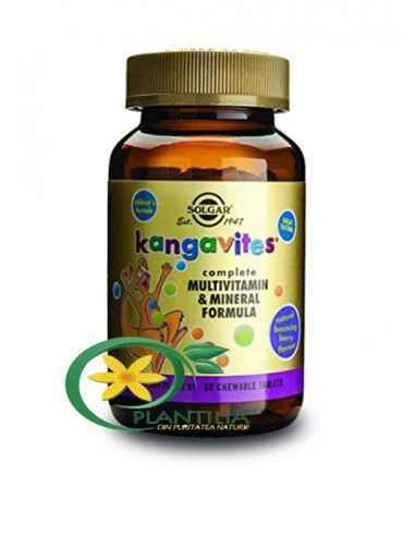 Kangavites Multivitamin & Mineral Formula Berry 60 cpr masticabile Solgar Formulă completă pe bază de multivitamine și mine