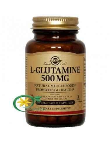L-Glutamine 500mg 50 cps SOLGAR L-glutamina este o sursă principală de alimentare pentru creier și pentru întregul organism, fii