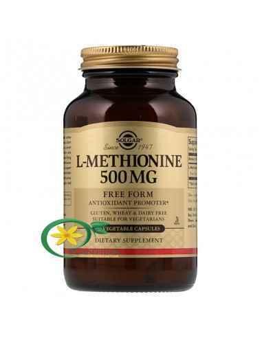 L-Methionine (L-Metionina) 500mg 30 cps Solgar L-metionina este un aminoacid cu conținut de sulf și proprietăți antioxidante. L-
