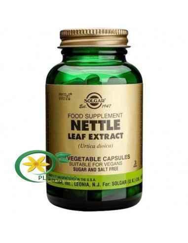 Urzica 60 cps Solgar, Nettle Leaf (Urzica) Extract 60 cps Solgar  Urzica are proprietăți diuretice moderate, fiind utilizată în