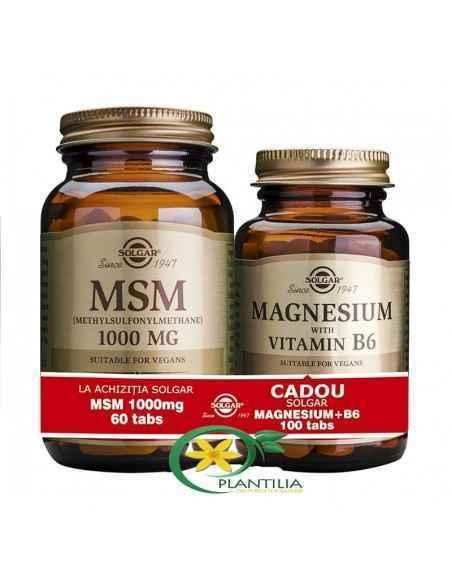 MSM 60 tb + Magneziu cu B6 100 tb GRATUIT Solgar