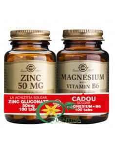 Gluconat de Zinc + Magneziu cu B6 Solgar