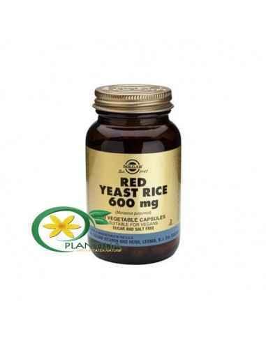 Red Yeast Rice 60 cps Solgar, Red Yeast Rice (Orez Rosu Fermentat) 600 mg 60 cps Solgar  Orezul roșu fermentat face parte din di