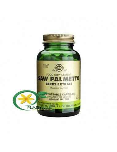 Palmier Pitic 60 cps Solgar, Saw Palmetto Berry Extract (Palmier Pitic) 60 cps Solgar Saw Palmetto, un extract din fructul palmi