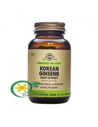 Ginseng Coreean 60 cps Solgar,  Korean Ginseng Root Extract (Ginseng coreean) 60cps Solgar  Ginsengul coreean conține în mod nat