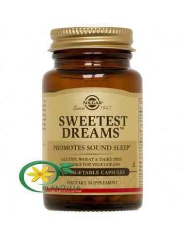 Sweetest Dreams (L-teanina si melatonina) 30cps Solgar  O combinație de L-teanina si melatonina pentru instaurarea unei stări d