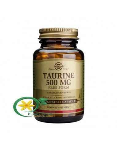 Taurine (Taurina) 500 mg 50 cps Solgar  Taurina este un compus simplu cu conținut de sulf și unul dintre cei mai abundenți amino
