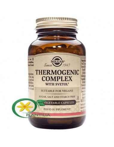 Thermogenic Complex 60 cps Solgar  O formulă inovatoare pe bază de multi-nutrienți și extracte din plante ce contribuie la cont
