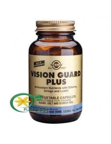 Vision Guard Plus 60 cps Solgar, Vision Guard Plus 60 cps Solgar  Substanțe nutritive antioxidante cu afine, Ginkgo Biloba și lu