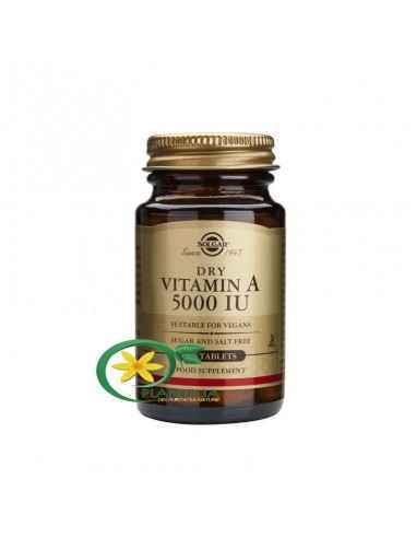 Vitamina A 100 tb Solgar, Vitamina A 5000iu 100 tb Solgar  Vitamina A susține sănătatea sistemului imunitar și a pielii, cât și