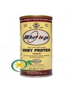 Proteine Whey To Go Vanilie Pudra 340 g Solgar
