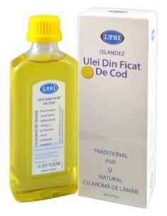 Ulei din ficat de cod cu lamaie 240ml Lysi