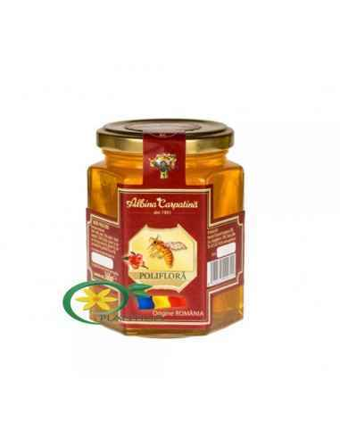 Miere Poliflora 360 g Apicola Georgescu Mierea poliflora este o miere completa, obtinuta din nectarul mai multor specii de pla
