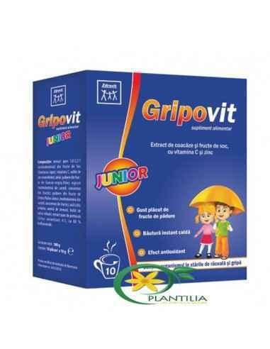 Gripovit Junior Zdrovit, Gripovit Junior 10 plicuri Zdrovit  Datorita compozitiei sale complexe, Gripovit Junior este recomandat
