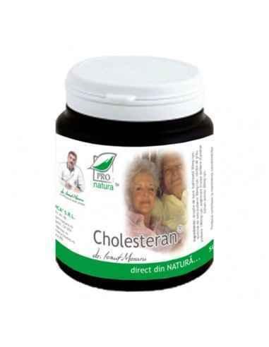 Cholesteran 150 capsule Pro natura Scade nivelul seric al colesterolului LDL si al trigliceridelorReduce riscul de aparitie al b