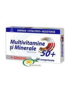 Multivitamine si Minerale + Ginseng 50+ 56 cpr Zdrovit