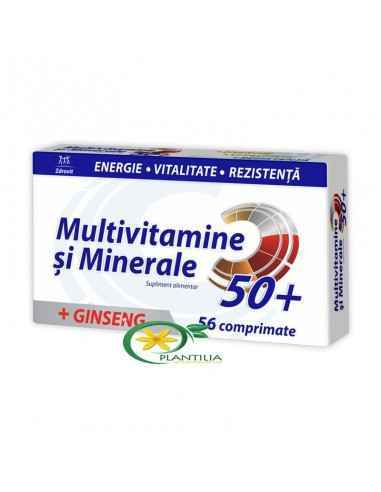 Multivitamine si Minerale + Ginseng 50+ 56 cpr Zdrovit,  Multivitamine si Minerale + Ginseng 50+ 56 cpr Zdrovit  Zdrovit multivi