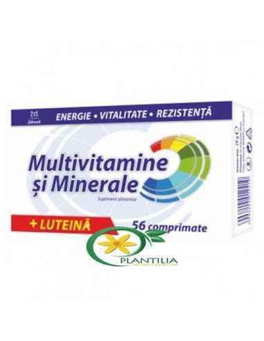 Multivitamine si Minerale +Luteina 56 cpr Zdrovit  Multivitamine si Minerale +Luteina 56 cpr Zdrovit are o compozitie 100%