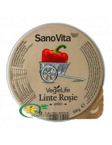 Pate Vegetal de Linte Rosie cu Ardei 100g SanoVita  Pateul din linte rosie cu ardei si ceapa este o alegere foarte sanatoasa si