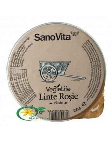 Pate Vegetal de Linte Rosie 100g SanoVita  Pateul din linte rosie este o alegere foarte sanatoasa si gustoasa in acelasi timp, a
