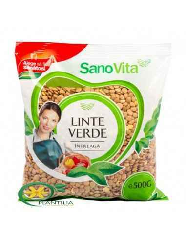 Linte Verde 500g SanoVita,   Linte Verde 500g SanoVita  Lintea verde are un gust de piper care este cu atat mai puternic cu cat