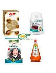 Pachet Imunitate Adulti, Pachet Imunitate AdultiPachetul contine 1 flacon capsule Noni + vitamina C Rotta Natura, 1 flacon ca