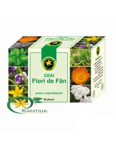 Ceai Flori de Fan 20 plicuri Hypericum  Ceaiul Flori de Fan (Scuturatura) este stimulent al circulatiei periferice, tonifiant g