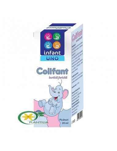 Colifant 20 ml Infant Uno,   Colifant 20 ml Infant Uno  Colifant previne si reduce formarea de gaze, mai mult, ajuta la eliminar