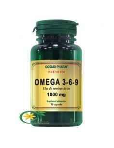 Omega 3-6-9 (Ulei Seminte In) 1000mg 30cps Cosmo Pharm