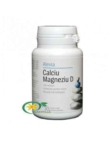 Calciu Magneziu D 30cpr Alevia, Calciu Magneziu D 30cpr Alevia Calciul si magneziul asigura mineralizarea tesutului osos. Impreu