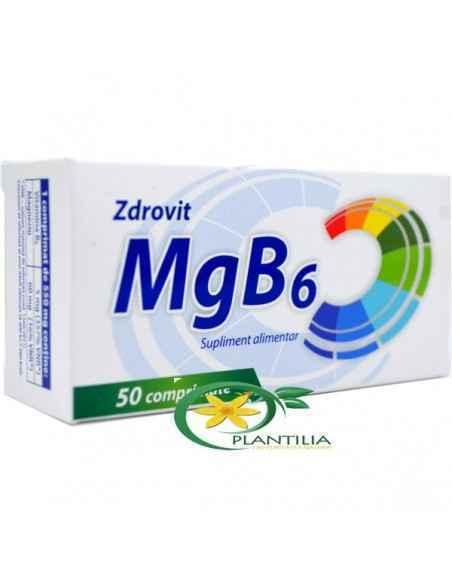Magneziu + B6 50cpr Zdrovit