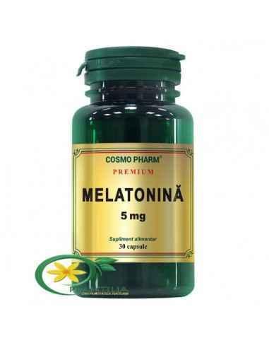 Melatonina 5mg 30 cps Cosmo Pharm Premium, Melatonina 5mg 30 capsule Cosmo Pharm Premium Hormon implicat in reglarea ritmului ci