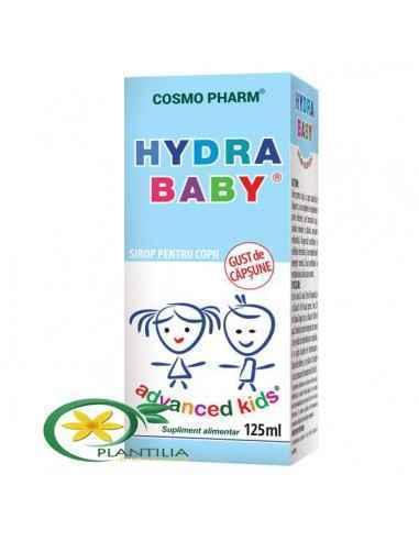 Hydra Baby Sirop 125ml CosmoPharm Sirop ce asigura rehidratarea intregului organism in caz de diaree, varsaturi, consum redus de