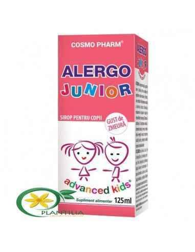 Sirop Alergo Junior 125ml CosmoPharm  Alergo Junior este un produs natural, eficient, destinat alergiilor copiilor, fara efectel