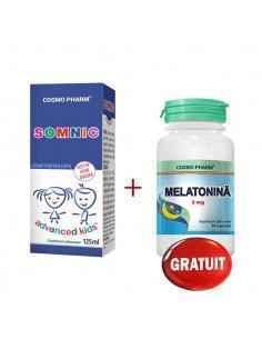 Sirop Somnic 125ml + Melatonina 3mg 10cps CosmoPharm