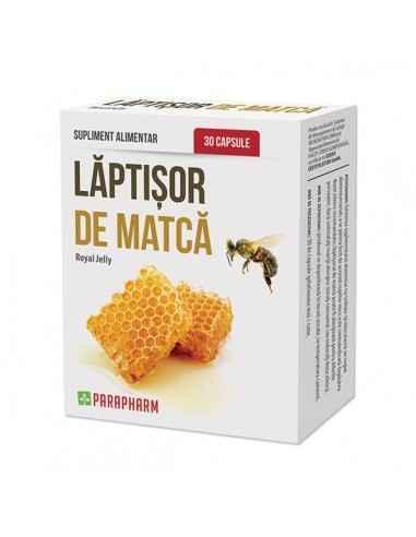 Laptisor de matca 30cps - Parapharm Este vitalizant, imunomodulator, contribuie la buna functionare a sistemului imunitar, tonic