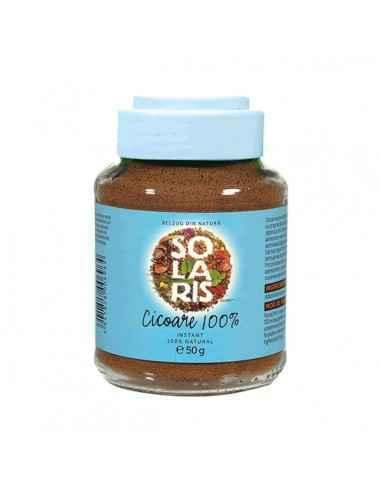 Cicoare 100% instant 50gr - Solaris Cicoarea poate fi un inlocuitor de succes al cafelei, putand fi consumata in orice moment al